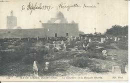 141 - ILE DE DJERBA, HOUMT-SOUK - LE CIMETIERE ET LA MOSQUEE RHORBA  ( Animées ) TUNISIE - Tunisia