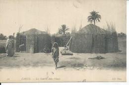 59 - ZARZIS - LE PORT - LES GOURBIS DANS L'OASIS  ( Animées ) TUNISIE - Tunisia