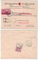 Roumanie // Lettre Recommandée De La Croix Rouge Pour Genève 26/2/1948 - Covers & Documents