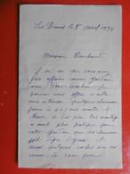 CAMARGUE MAS LES BRUNS LETTRE AUTOGRAPHE GARDIAN RENE CHABAUD RECOMMANDATION RENE BARBUT 1934 - Autographs