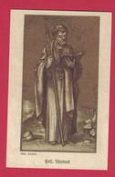 SANTINO MODERNO SAN TOMMASO GERMANIA CON CENNI E STORIA IN TEDESCO - Devotion Images