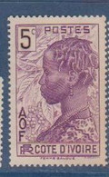 COTE D'IVOIRE             N° YVERT  :    112  NEUF SANS GOMME        ( S G     2 / 15) - Unused Stamps