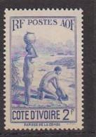 COTE D'IVOIRE             N° YVERT  :    128 NEUF SANS GOMME        ( S G     2 / 15) - Unused Stamps