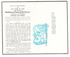 DP Madeleine Th. De Keyzer ° Merelbeke 1905 † Brugge 1955 X Edmond Ghillebert Ghyllebert - Devotion Images