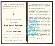 DP Alice Rachel Hautekeete ° Deinze 1882 † 1942 X Gentiel Noterman - Devotion Images