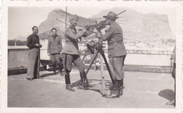 Palermo - Militari Con Lo Sfondo Di Monte Pellegrino - Foto La Cara - Oorlog, Militair