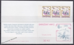Czech Republic - Tcheque 1995 Yvert C74 Protection Of Nature, Fauna, Insects - Booklet - MNH - Ongebruikt