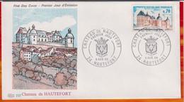 """FDC """" Editions PAC """"-FRANCE-1969 # (N°Yvert  1596  ) # Château De Hautefort , Hautefort - 1960-1969"""