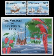 Gambia 1993 - Mi-Nr. 1464-1465 & Block 177 ** - MNH - Schiffe / Ships - Columbus - Gambia (1965-...)