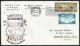 Estados Unidos (s) Año 1936 Zeppelin - 1c. 1918-1940 Cartas