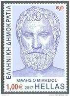 Greece 2017 Thales Of Miletus Mathematician Astronomer Philosopher Thalès De Milet Talete Di Milèto  MNH(**) - Astronomy