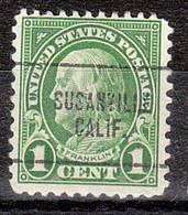 Locals USA Precancel Vorausentwertung Preo, Locals California, Susanville 632-704 - Precancels