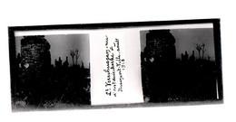 Plaque De Verre. Négatif. Belgique.Guerre 14/18. Nieuport Ville. Lieutenant (nommé) Rue De Oostddunkerque. Août 1918 - Diapositiva Su Vetro