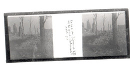 Plaque De Verre. Négatif. Belgique.Guerre 14/18. Nieuport Ville. L'église De La Route De Oostddunkerque. Août 1918 - Diapositiva Su Vetro