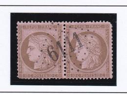 GC 6111 CHAMPIGNY SUR YONNE ( Dept 83 Yonne ) S / N° 59 Paire - 1849-1876: Periodo Classico