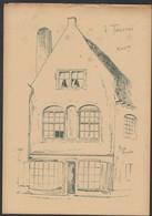 Tournai Rue Royale  Armand HEINS Ancienne Planche Avec Croquis De Facade - Unclassified
