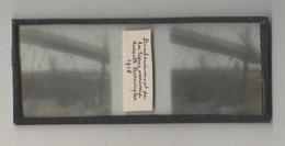 Plaque De Verre. Négatif. Belgique.Guerre 14/18. Bombardement De La Ligne Ennemie à Boesninghe. 1916 - Diapositiva Su Vetro