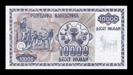 Macedonia 10000 Denari 1992 Pick 8 SC UNC - Macedonia