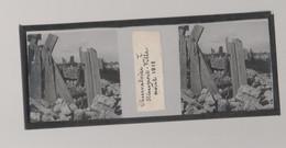 Plaque De Verre. Négatif. Belgique.Guerre 14/18. Observatoire De Nieuport Ville Août 1918 - Diapositiva Su Vetro