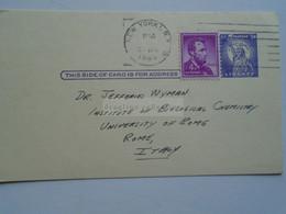 D179029 USA Postal Stationery - Cancel 1965 New York -Columbia Univ. George R. Carmody Autograph Sent To Jeffries Wyman - 1961-80