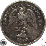 LaZooRo: Mexico 5 Centavos 1903 Mo M VF / XF - Silver - Mexico