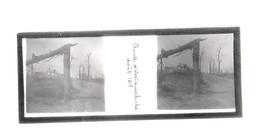 Plaque De Verre. Négatif. Belgique.Guerre 14/18. Route D'Oostddunkerque. Août 1918 - Diapositiva Su Vetro