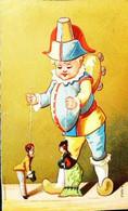 ►  Chromo   Polichinelle Marionnettiste  Marionnette  Comedia Del'arte - Otros