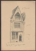 Tournai Rue Des Jésuites  Armand HEINS Ancienne Planche Avec Croquis De Facade - Unclassified