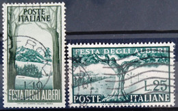 ITALIE                       N° 618/619                   OBLITERE - 1946-60: Afgestempeld