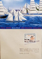 A) 1936, CANADA, FIRST CANADIAN ROCKET – FLIGHT, POSTACARD, SHIPPED TO NEW YORK, HALIFAX TALL BOATS THE GREAT SAILBOATS - Cartas
