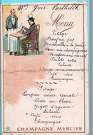 MENU - ILLUSTRATION ... Champagne MERCIER (défaut Pli Au Milieu) - Menükarten