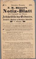 1891 Zeitschrift Für Das Geldwesen Von F.H.Hänsel's Notiz-Blatt 4seit.Faltblatt,in Der Faltung Offen - Livres & Logiciels