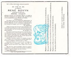 DP René Bovyn Bovijn ° Deinze 1881 † 1956x Bertha Cocquyt / Veys Van Quickelberghe Callewaert Van De Putte Van Haverbeke - Santini