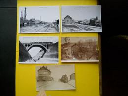 Photo ,TRAMWAY Et Gares Du PAS DE CALAIS ,collection Bourneuf , Hargicourt ,Coulogne ,..... - Treinen