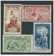 Indochine P.A. N° 20 / 23  XX  P.E.I.Q.I. La Série Des 4 Valeurs Sans Charnière, TB - Ungebraucht