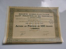 Hydro-électrique Du Morvan (chateau Chinon NIEVRE) - Unclassified