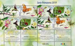 Uruguay - 2019 - The Spring - Flowers With Birds And Insects - Mint Souvenir Sheet - Uruguay