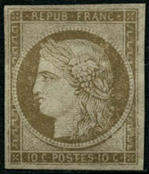 (*) N°1 10c Bistre, Neuf Sans Gomme - TB - 1849-1850 Ceres
