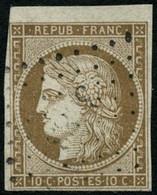 Oblit. N°1 10c Bistre, Signé Calves - B - 1849-1850 Ceres
