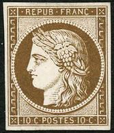 ---- N°1 10c Bistre, Essai Sur Papier épais Dans La Couleur - TB - 1849-1850 Ceres