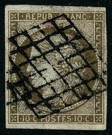 Oblit. N°1a 10c Bistre-brun - TB - 1849-1850 Ceres