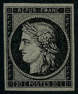 * N°3F 2c Noir, Réimp - TB - 1849-1850 Ceres