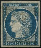 ** N°4 25c Bleu , RARE - TB - 1849-1850 Ceres