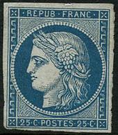 * N°4 25c Bleu, Signé Miro - TB - 1849-1850 Ceres