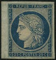 ---- N°4 25c Bleu, Gomme Apocryphe - B - 1849-1850 Ceres