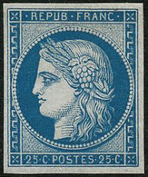 ** N°4d 25c Bleu Réimp - TB - 1849-1850 Ceres