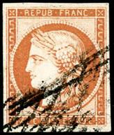 Oblit. N°5 40c Orange, Signé JF Brun  - TB - 1849-1850 Ceres