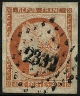 Oblit. N°5 40c Orange, Grandes Marges - TB - 1849-1850 Ceres