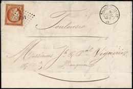 Lettre N°5 40c Orange S/lettre Du 8/7/54 Avec PC 2781 - TB - 1849-1850 Ceres
