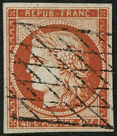 Oblit. N°5a 40c Orange Vif, Signé JF Brun - TB - 1849-1850 Ceres